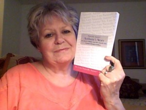 Judy Contois with leo's book