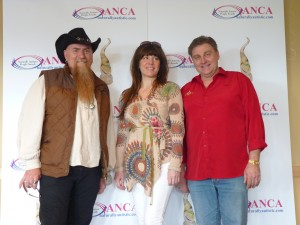 Tim Steinruck of The Mighty One with 2013 JUNO nominee Janet Panic and Canadian Country Singer Lance King