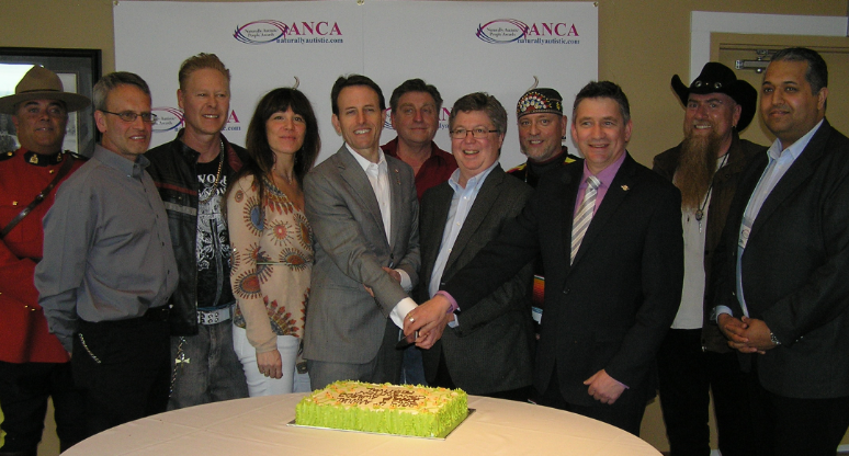 Official cake cutting for the 2013 4th annual International Naturally Autistic People Awards Convention and Festival - Elected Officials for the Sunshine Coast and Sponsor Partners and Official Spokes persons