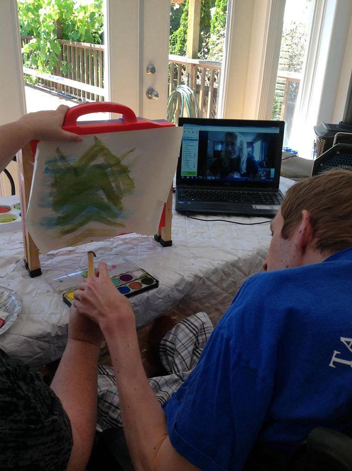 Anthony in skype art class 2 2014