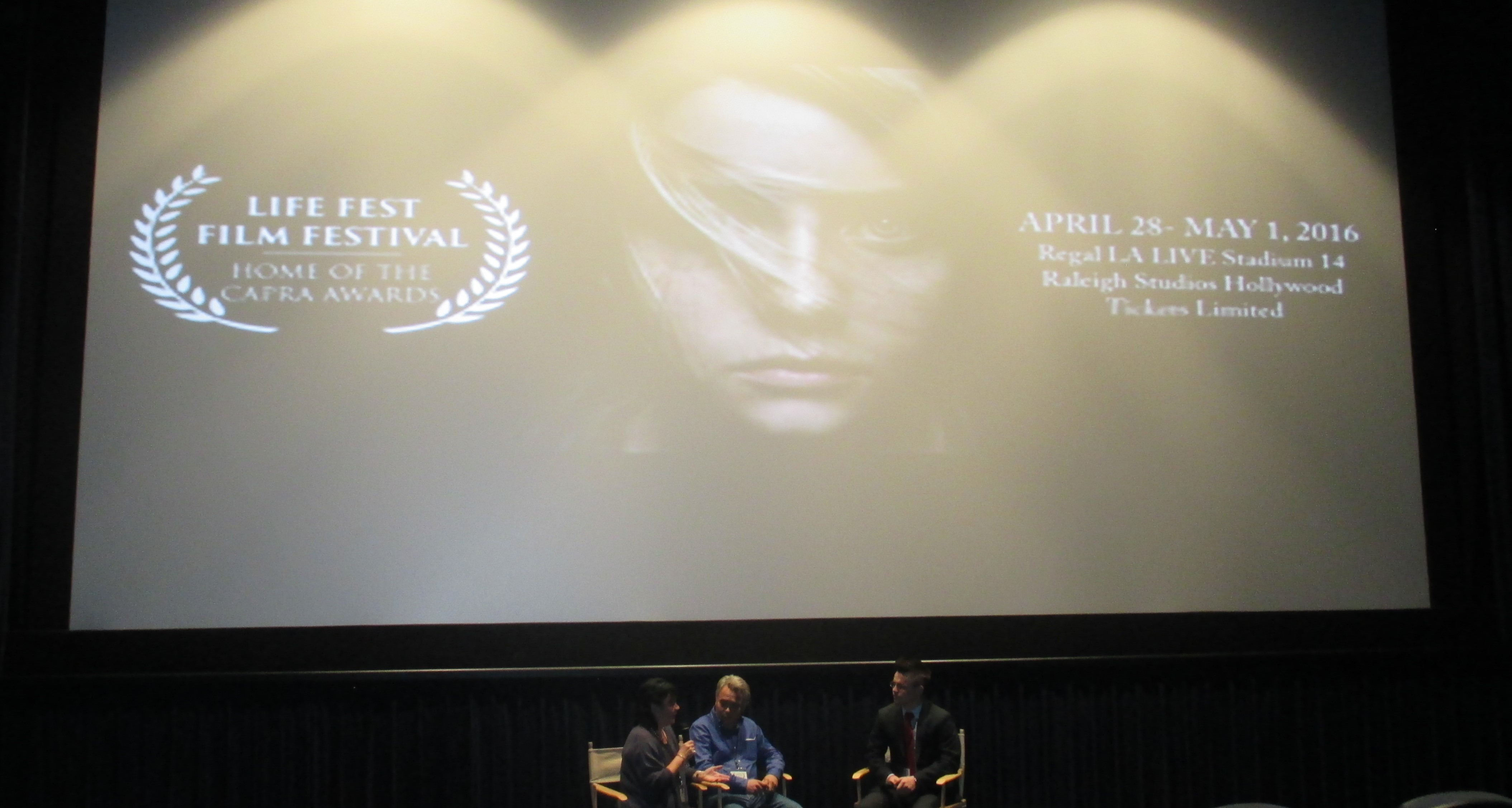 Leo and Charlie Q and A Life fest Film Festival 2016