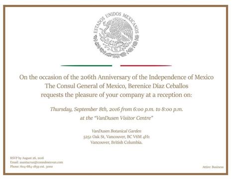 consul General Mexico reception Sept 8 2016