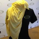 Gold hijab & black T 1