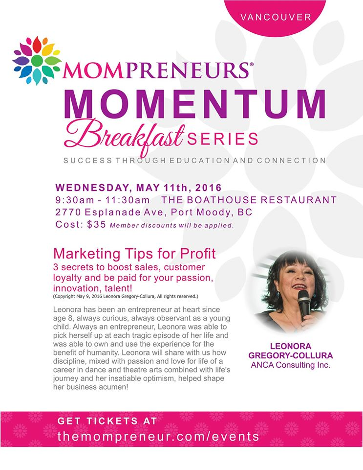 Momprener event May 11 2016