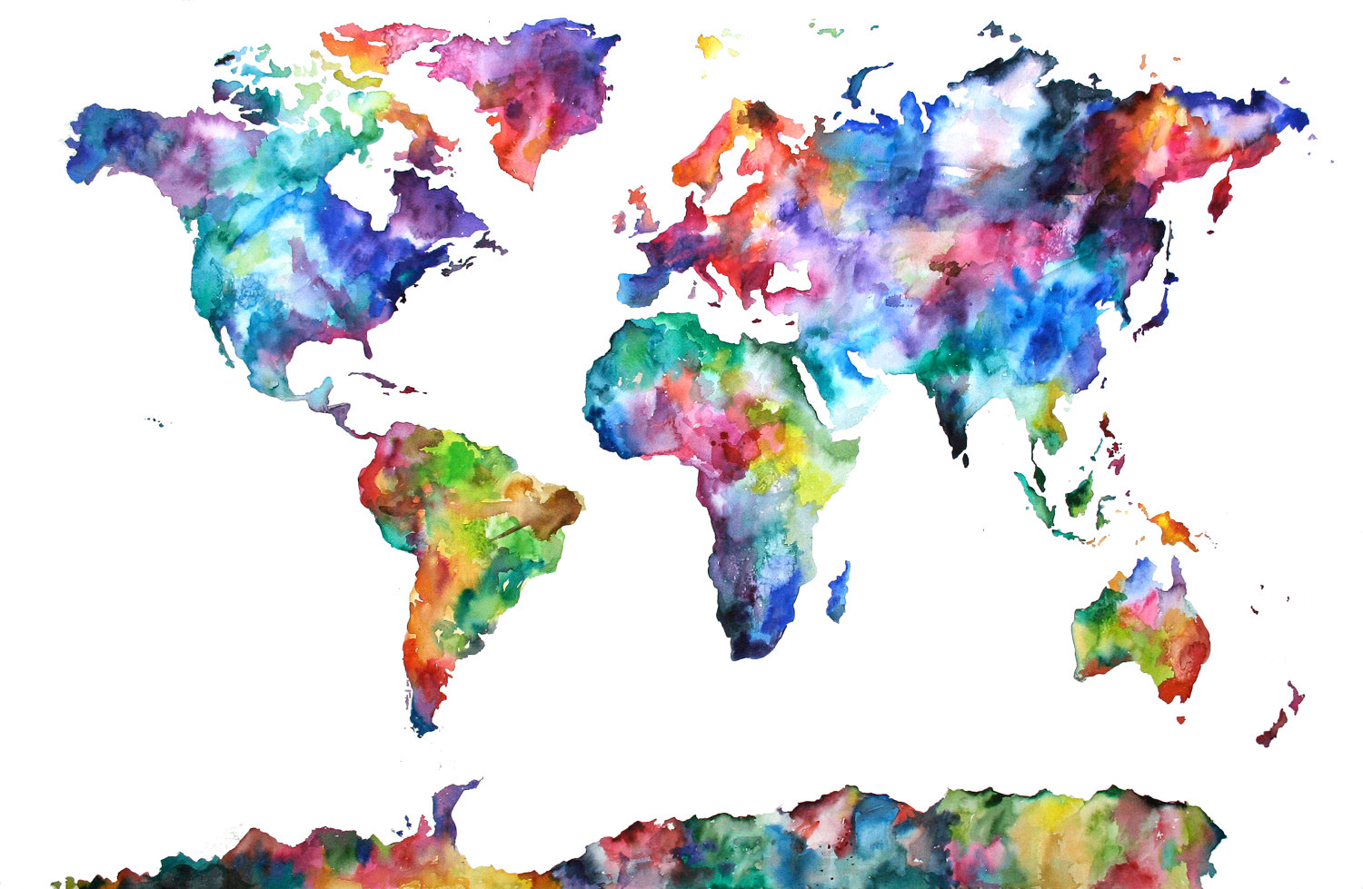 Colorful map of the world 1